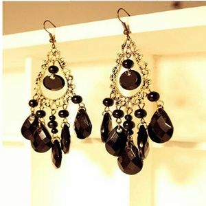 Jewelry - GORGEOUS VINTAGE DROP DANGLE EARRINGS NEW
